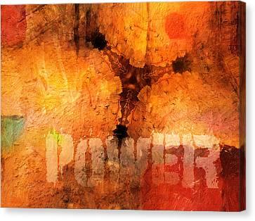 Hidden Power Artwork Canvas Print by Lutz Baar
