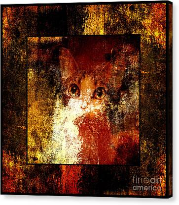 Hidden Square Canvas Print by Andee Design
