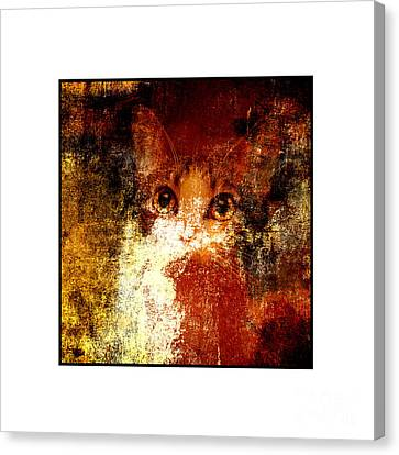 Hidden Square White Frame Canvas Print by Andee Design