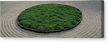 High Angle View Of A Japanese Garden Canvas Print by Panoramic Images