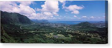 High Angle View Of A Landscape Canvas Print by Panoramic Images