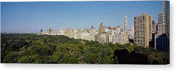 High Angle View Of A Park, Central Canvas Print by Panoramic Images