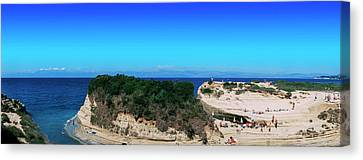 High Angle View Of An Island, Corfu Canvas Print by Panoramic Images