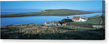 High Angle View Of Cottages Canvas Print by Panoramic Images
