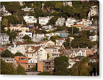 High Angle View Of Houses In A Town Canvas Print by Panoramic Images