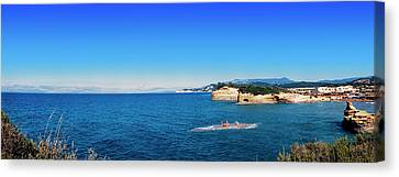 High Angle View Of Ionian Sea, Corfu Canvas Print by Panoramic Images