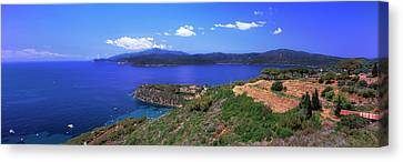 High Angle View Of Sea, Golfo Stella Canvas Print by Panoramic Images