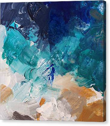 High As A Mountain- Contemporary Abstract Painting Canvas Print by Linda Woods