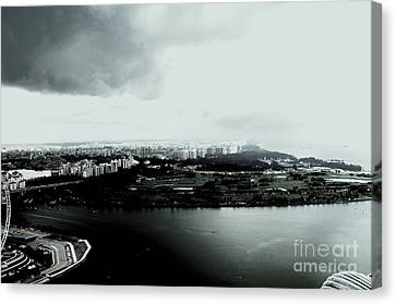 High Contrast Singapore Storm Canvas Print by Greg Cross