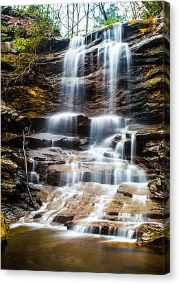 High Falls At Moss Rock Preserve Canvas Print by Parker Cunningham