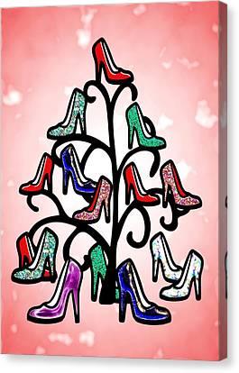 High Heels Tree Canvas Print by Anastasiya Malakhova