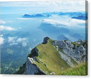 High On Nature At Mt. Pilatus Canvas Print by Mary Ellen  Mueller Legault