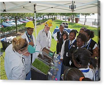 High School Ecology Education Canvas Print by Jim West