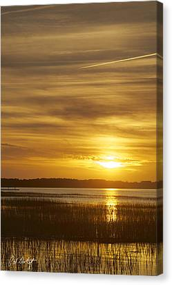High Tide In The Marsh Canvas Print by Phill Doherty