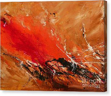 High Time - Abstract Art Canvas Print by Ismeta Gruenwald