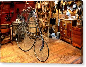 High Wheel 'penny-farthing' Bike Canvas Print by Christine Till