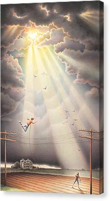 High Wire - Dream Series No. 4 Canvas Print by Amy S Turner