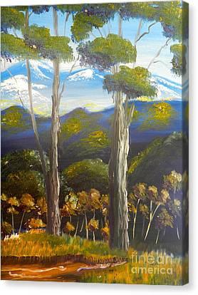 Highlands Gum Trees Canvas Print by Pamela  Meredith