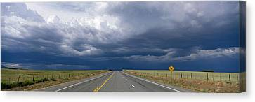 Highway Near Blanding, Utah, Usa Canvas Print by Panoramic Images