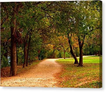 Hike And Bike Trail Canvas Print by James Granberry