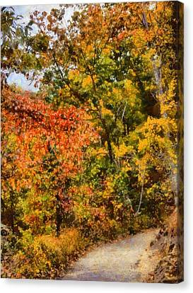 Hiking In Autumn Canvas Print by Dan Sproul
