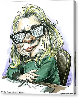 Hillaryvision Canvas Print by Taylor Jones