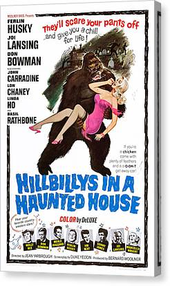 Hillbillys In A Haunted House, Bottom Canvas Print by Everett