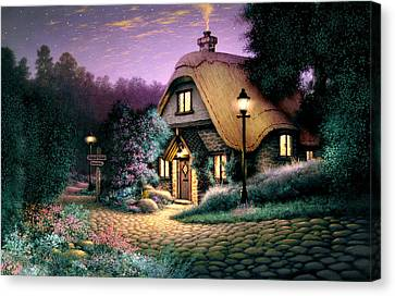 Hillcrest Cottage Canvas Print by Steve Read
