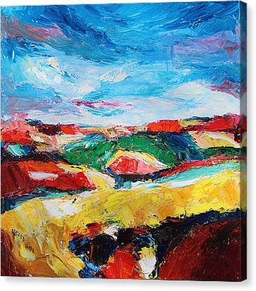 Hills In Dream 2 Canvas Print by Becky Kim