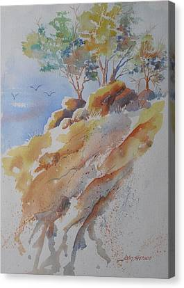 Hillside Rocks Canvas Print by John  Svenson