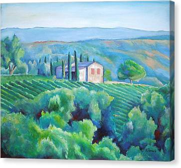 Hillsides Of Tuscany Canvas Print by Sheila Diemert