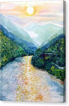 Himalayan Rainbow Canvas Print by Aditi Bhatt