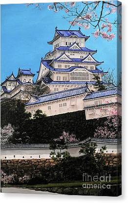 Himeji Castle Canvas Print by D L Gerring