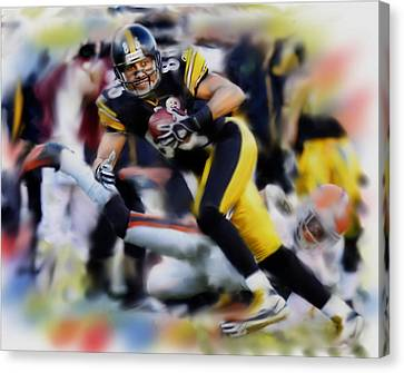 Hines Ward  Canvas Print by Dwayne  Graham