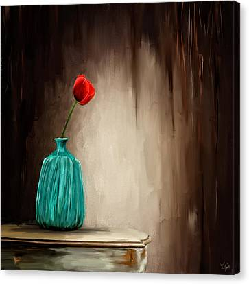 Hint Of Passion Canvas Print by Lourry Legarde