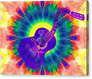 Hippie Guitar Canvas Print by Bill Cannon