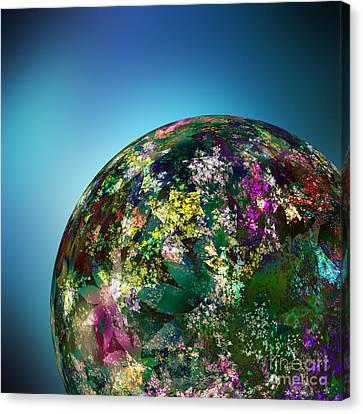 Hippies' Planet 2 Canvas Print by Klara Acel
