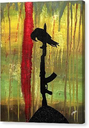 His Senseless Trial Of Strength Canvas Print by Jim Stark