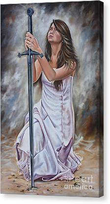 His Sword Canvas Print by Ilse Kleyn