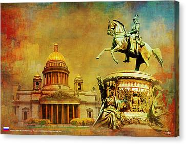 Historic Center Of Saint Petersburg Canvas Print by Catf