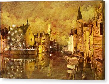Historic Centre Of Brugge Canvas Print by Catf