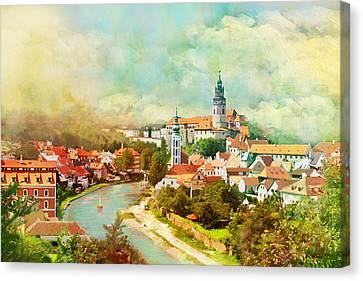 Historic Centre Of Cesky Krumlov Canvas Print by Catf