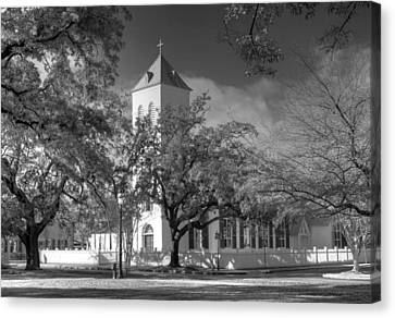 Historic First Church Canvas Print by David Troxel