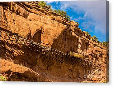 Historic Hanging Flume - Dolores River - Colorado Canvas Print by Gary Whitton