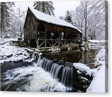 Historic Mill - Vintage 1800s Canvas Print by Thomas Schoeller