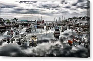 Historic Rockport Harbor Canvas Print by Stephen Stookey