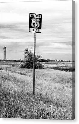 Historic Route 66 Canvas Print by John Rizzuto