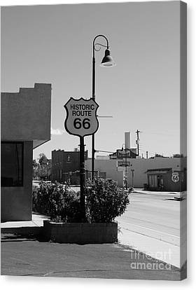 Historic Route 66 Canvas Print by Mel Steinhauer