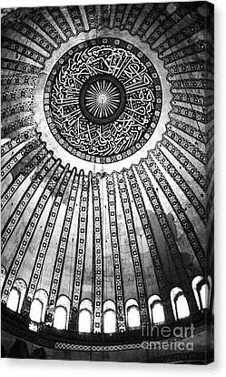 Historic Sophia Ceiling Canvas Print by John Rizzuto