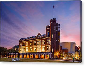 Historic Thomas Hall At Loyola University - New Orleans Louisiana Canvas Print by Silvio Ligutti